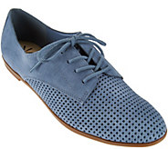 Isaac Mizrahi Live! Perforated Leather or Suede Oxfords - A273204