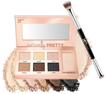 IT Cosmetics Naturally Pretty Essentials Palette w/Brush - A274404
