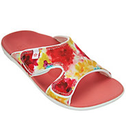 Spenco Orthotic Printed Slide Sandals - Kholo Bouquet - A274704