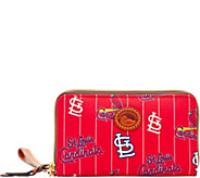 Dooney & Bourke MLB Nylon Cardinals Zip Around Phone Wristlet - A281704