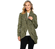 Attitudes by Renee Open Front Sweater with Ruffle Detail - A284304