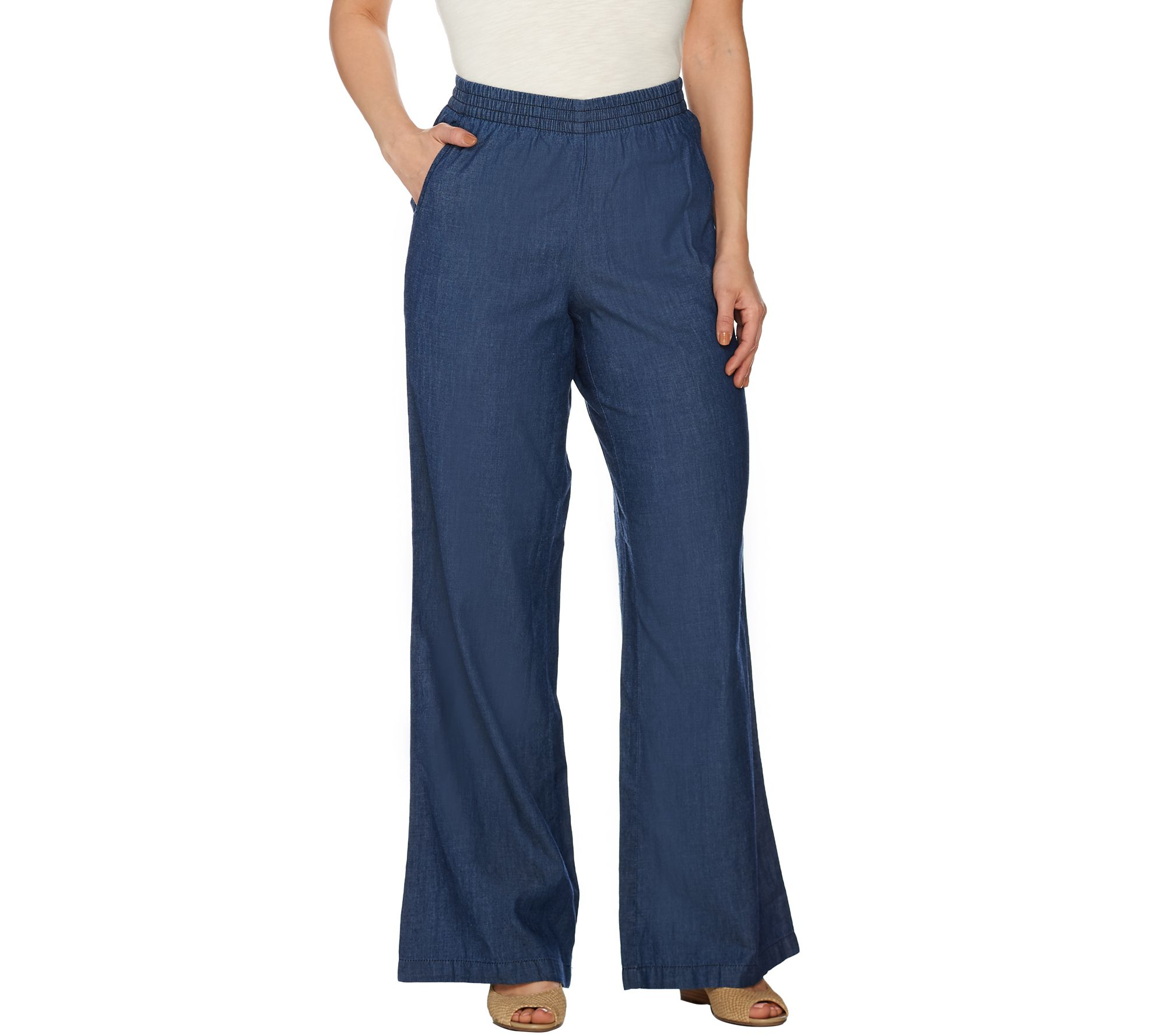 As is denim co regular chambray pull on wide leg for Chambray jeans