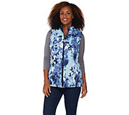 Denim & Co. Printed Reversible Vest with Pockets - A286804