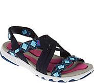 As Is Ryka Multi-Strap Sandals with Foam Flexology Median - A288204