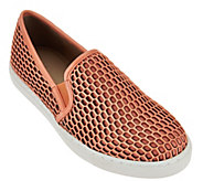 As Is LOGO by Lori Goldstein Slip-on Mesh Sneakers with Double Goring - A288904