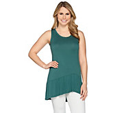 As Is LOGO Layers by Lori Goldstein Knit Tank with Peplum - A296104