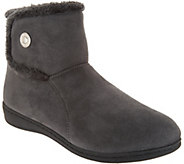 Vionic Orthotic Suede Slipper Boots - Vanah - A298104