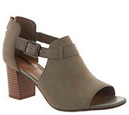 Clarks Leather Peep Toe Back Zip Booties - Deva Valeria - A303304