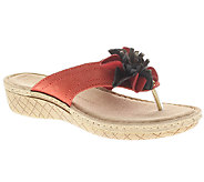 Flexus by Spring Step Darinka Leather Thong Sandals - A332304