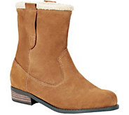 Sole Society Suede and Faux Shearling Booties -Verona - A356604