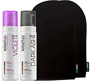 MineTan Dark Ash Foam & Violet Foam with 2 Application Mitts - A360304