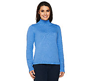 Denim & Co. Stretch Mockneck Pullover Sweater - A66504