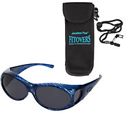 Fitover Fashion Frame Polarized Sunglasses w/ Carrying Case - A81504