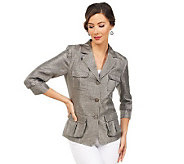 Joan Rivers Safari Style 3/4 Sleeve Jacket - A221905