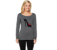 Attitudes by Renee Long Sleeve Motif Sweater - A258505