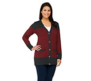 Liz Claiborne New York Chevron Boyfriend Cardigan - A259605
