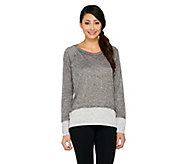 Lisa Rinna Collection Long Sleeve Color-Block Knit Top - A262905