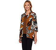 Linea by Louis DellOlio Printed Cardigan and Tank Set - A266305