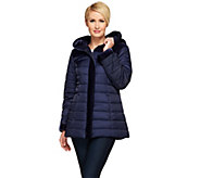 Susan Graver Puffer Coat with Velvet Trim - A268805