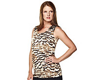 As Is K-DASH by Kardashian Animal Print Tunic with Sequin Detail - A272105