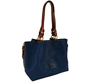 Dooney & Bourke Florentine Leather Large Zip Barlow Satchel - A272205