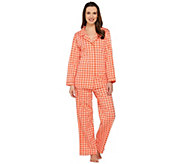 Isaac Mizrahi Live! Gingham Print Pajama Set - A272605