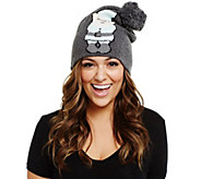 Bethany Mota Gnome Sweater Knit Pom Pom Hat - A273805