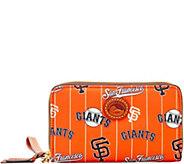 Dooney & Bourke MLB Nylon Giants Zip Around Phone Wristlet - A281705