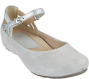 Earthies Suede Flats with Ankle Strap - Capri - A289305