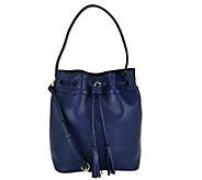 As Is C. Wonder Pebble Leather Drawstring Bucket Handbag - A291605