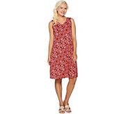 Denim & Co. Printed Sleeveless V-Neck Dress - A292505