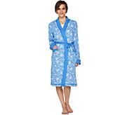 Carole Hochman Floral Fields & Geo Cotton Wrap Robe - A293905