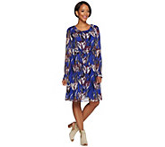 As Is Isaac Mizrahi Live! Tulip Floral Chiffon Dress with Tie Belt - A294505