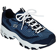 As Is Skechers DLites Knit Lace-up Sneaker - Reinvention - A296005