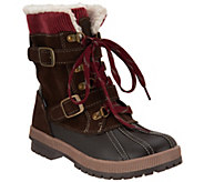 Khombu Waterproof Double Buckle Lace-up Boots - Shirley - A300305