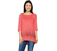 As Is Belle by Kim Gravel Sassy Sequin Cold Shoulder Tunic - A302205