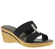 Tuscany by Easy Street Stretch Wedge Slide Sandals - Napoli - A335205