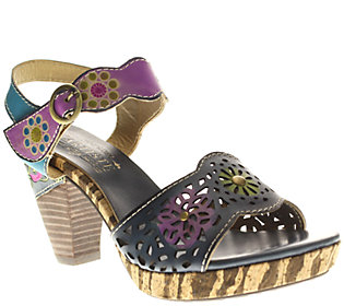 Spring Step Leather Sandals with Cutout Detail- Sharyn