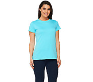 Isaac Mizrahi Live! Essentials Crew Neck Knit Tee - A210206