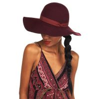 Luxe Rachel Zoe Wool Felt Floppy Hat with Stitched Brim