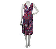 Kelly by Clinton Kelly Sleeveless Twist Front Printed Dress - A225206