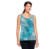 Pasazz.net Favorite -  Carol Wior Printed Tank with Inner Control Lining