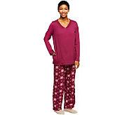 Carole Hochman Festive Bouquet Peached Jersey 2-Piece Pajama Set - A238006