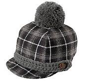 San Diego Hat Co. Childrens Plaid Pom-Pom Hat - A248306