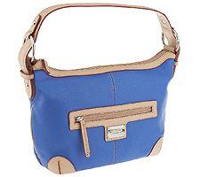 Tignanello Pebble Leather All Star Shoulder Bag w/ Vachetta Trim