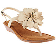 Rialto Mini Wedge Sandals with Flower Detail - Galina - A253606