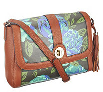 Isaac Mizrahi Live! Bridgehampton Printed Canvas Crossbody - A256006
