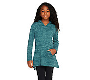 LOGO Littles by Lori Goldstein Hoodie with Pockets and Asymmetrc Hem - A257806