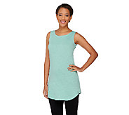 LOGO Layers by Lori Goldstein Slub Knit Curved Hem Tank - A261106