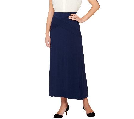 sa by seth aaron maxi skirt with waist band detail qvc